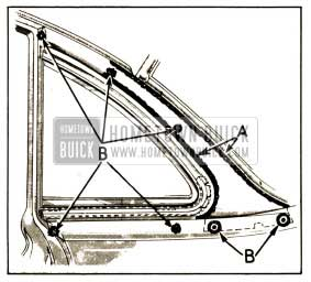 1952 Buick Sealing of Ventilator Header Molding
