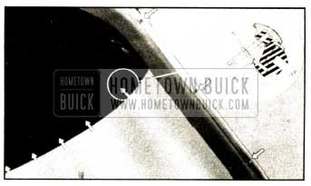 1952 Buick Sectional View of Windshield Header Molding Installation