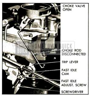 1952 Buick Setting Carter Fast Idle-Carburetor on Engine