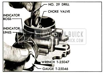 1952 Buick Setting Choke Valve and Vacuum Piston
