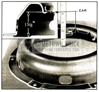 1952 Buick Setting of Spring Retainer Ears on Clutch Cover