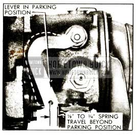 1952 Buick Spring Travel at Shift Lever