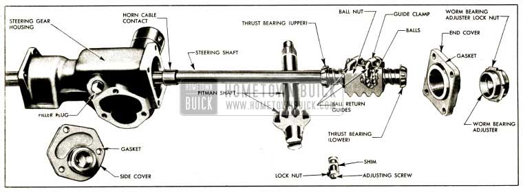 1952 Buick Steering Gear Disassembled