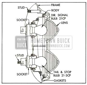 1952 Buick Tail Stop, and Signal Lamp-Series 40