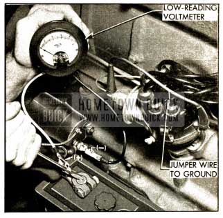 1952 Buick Testing Battery Cables and Connections with Voltmeter
