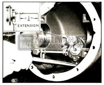 1952 Buick Testing Pinion Bearing Wear
