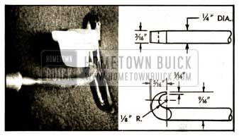 1952 Buick Tool for Removing Spring Type Seat Adjuster Knob