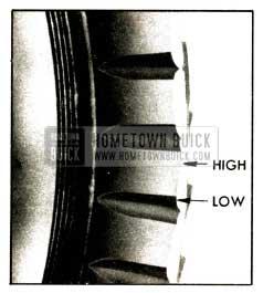 1952 Buick Tread Block Heel and Toe Wear