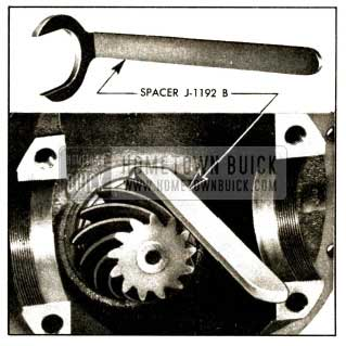 1952 Buick Use of Pinion Bearing Spacer J 1192-B