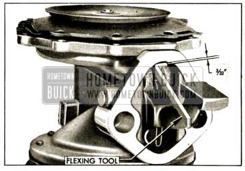 1952 Buick Vacuum Diaphragm Flexing Tool in Place