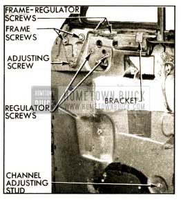 1952 Buick Ventilator Adjustments-Series 50-70 Shown