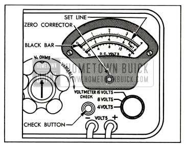 1952 Buick Voltmeter Calibration-Sun Model CB