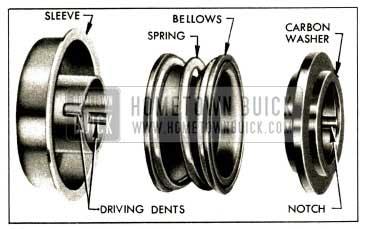 1952 Buick Water Pump Seal Disassembled