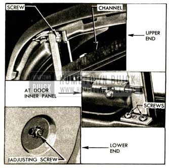 1952 Buick Window Division Channel Attachments
