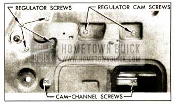 1952 Buick Window Regulator and Cam Attaching Screws