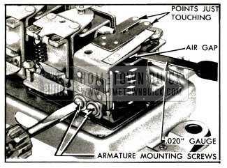 1953 Buick Adjustment of Cutout Relay Air Gap