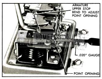 1953 Buick Adjustment of Cutout Relay Contact Point Openings