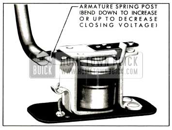 1953 Buick Adjustment of Horn Relay Closing Voltage