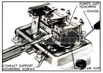 1953 Buick Adjustment of Voltage Regulator Air Gap