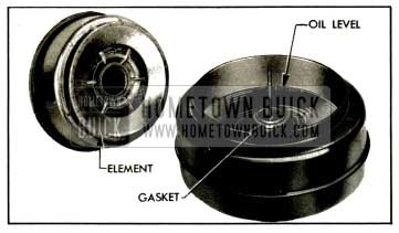 1953 Buick Air Cleaner Element and Reservoir-Series 50