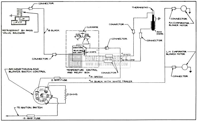1953 Buick Air Conditioner Control Circuit Diagram