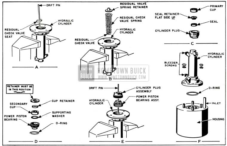 1953 Buick Assembly of Hydraulic Cylinder