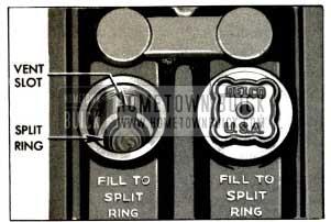 1953 Buick Battery Filler Well View