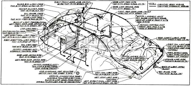 1953 buick body and hydro-lectric wiring circuit diagram models 52,  72r-styles