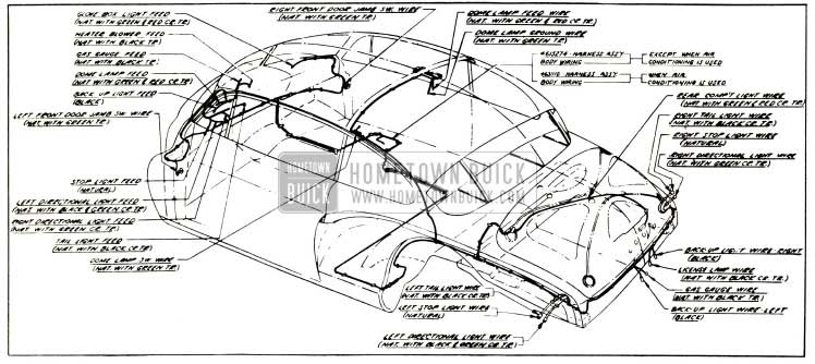 1953 Buick Body Wiring Circuit Diagram-Model 56 R- Style 4537