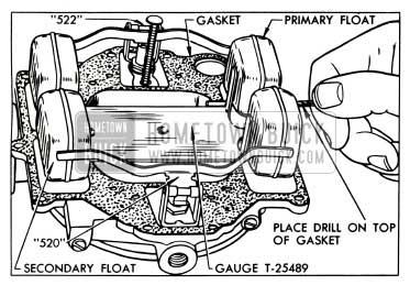 1953 Buick Carburetor Float Adjustment