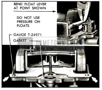 1953 Buick Checking and Adjusting Float Height