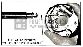 1953 Buick Checking Breaker Arm Spring Tension