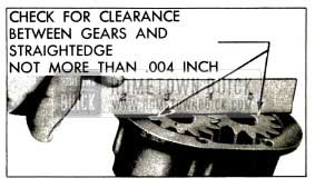 1953 Buick Checking Clearance of Gears of Cover