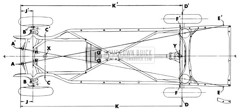 1953 Buick Checking Points for Frame and Suspension Alignment