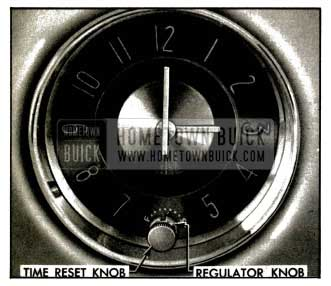 1953 Buick Clock Time Reset and Regulator Knobs