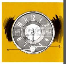 1953 Buick Clock