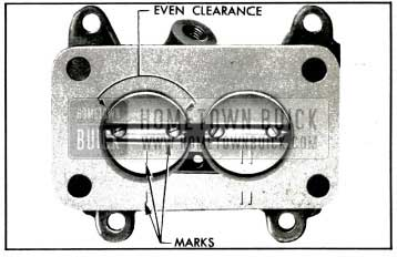 1953 Buick Correct Position of Throttle Valves