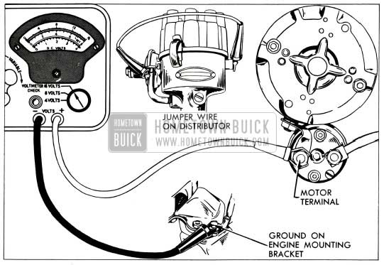 1953 Buick Cranking Voltage Test Connections