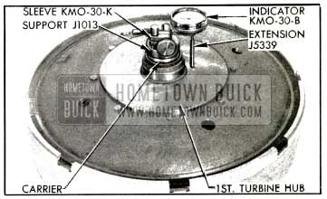 1953 Buick Dial Indicator on Turbine Assembly
