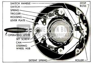 1953 Buick Direction Signal Switch in Off Position