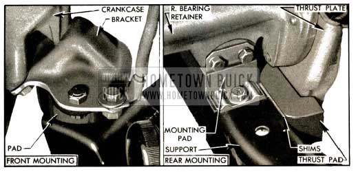 1953 Buick Engine and Transmission Mountings-Series 50-70 View