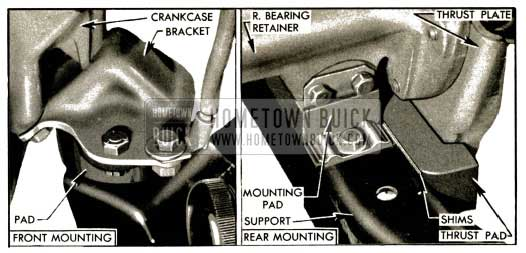 1953 Buick Engine and Transmission Mountings-Series 50-70
