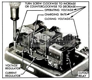 1953 Buick Generator Regulator Spring Tension Adjustments