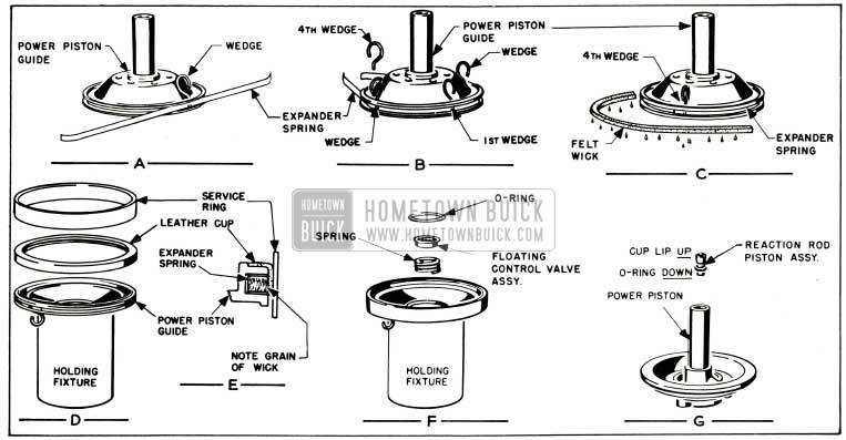 1953 Buick Guide and Piston Parts