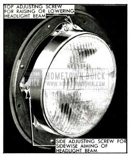 1953 Buick Headlamp Aiming Adjustments