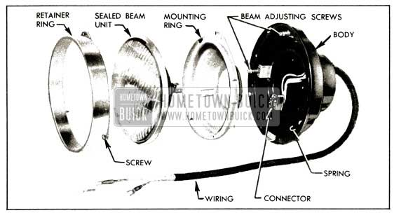1953 Buick Headlamp Disassembled