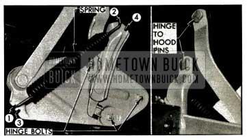 1953 Buick Hood Hinge-Left Side