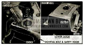 1953 Buick Hood Latch and Dovetail Bolt
