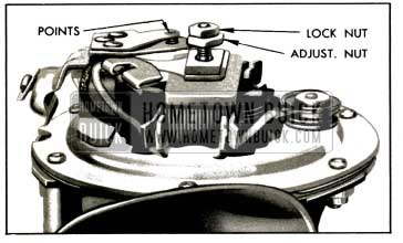 1953 Buick Horn Contact Point Adjustment