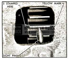 1953 Buick Ignition Timing Mark and Pin